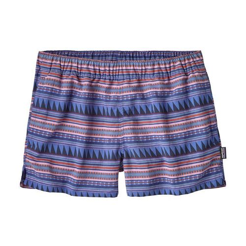 Patagonia W Barely Baggies Shorts Belay Stripe-Imperial Blue