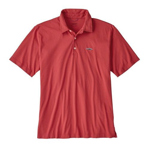 Patagonia M Polo - Trout Fitz Roy Static Red