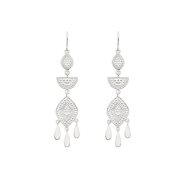 Multi Shape Chandelier Drop Earring