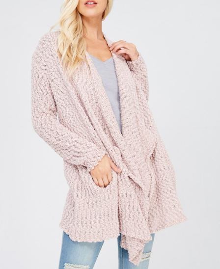 Open Front Chenille Sweater