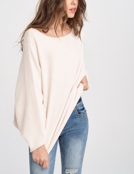 Super Soft Batwing Chenille Sweater