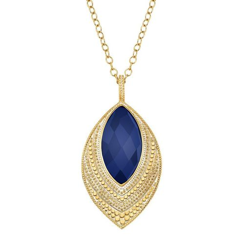Lapis Marquise Pendant Necklace