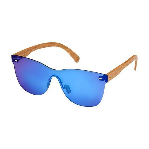 Delamar Beach Wood Blue Sunglass