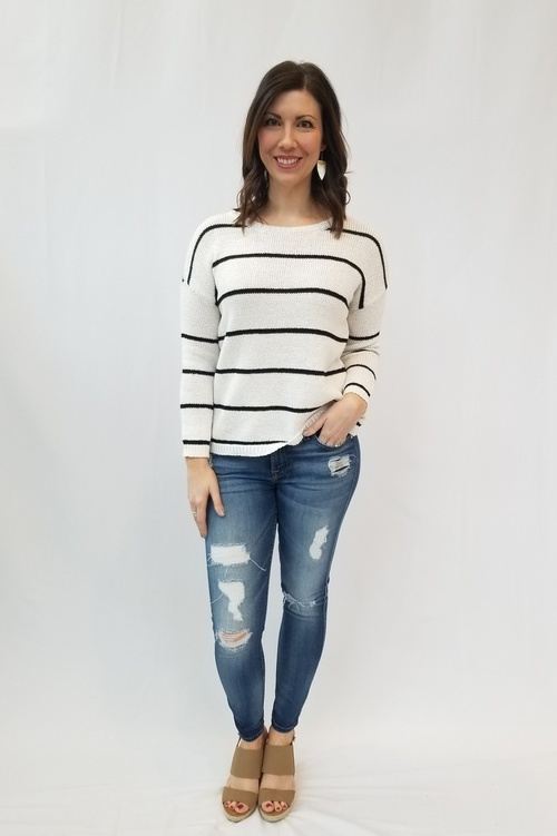 Daniel Striped Pullover Sweater