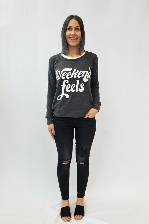 Weekend Feels Love Knit Pullover