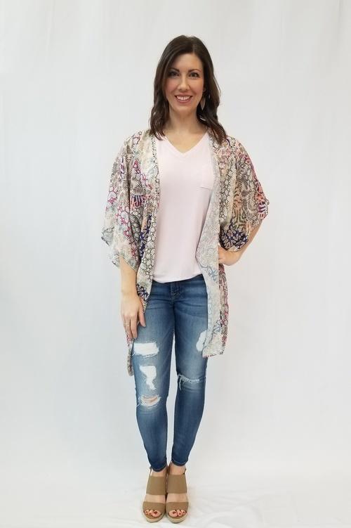 Crochet Back Kimono