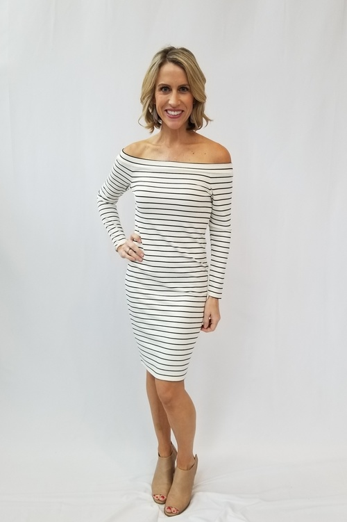 Bridget Striped Long Sleeve Dress