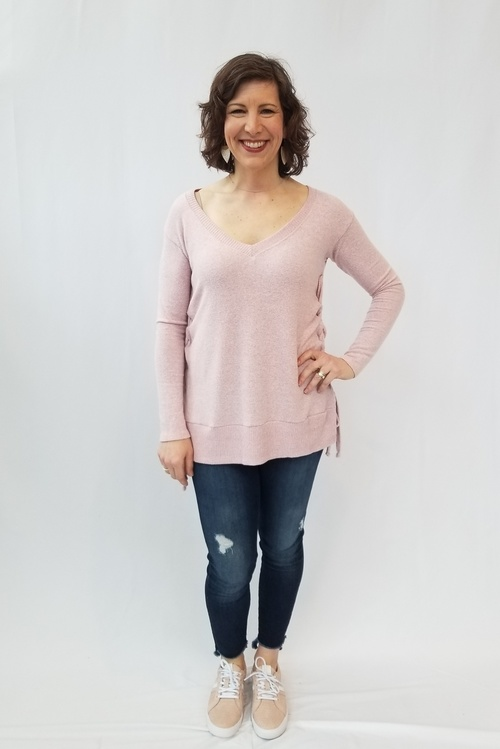 Brushed Jersey Dusty Pink Top