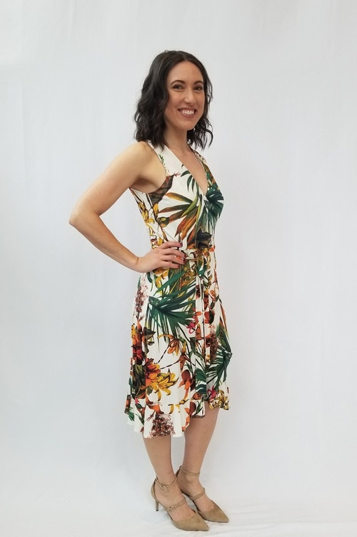 Jake Tropical Print Dress