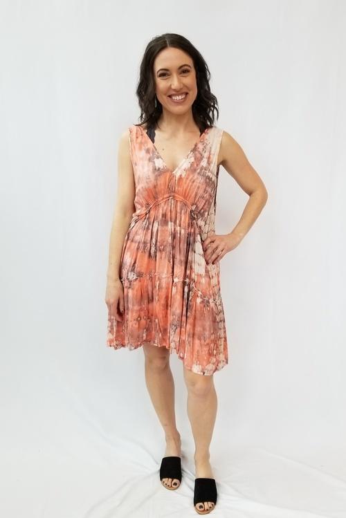Lilikoi Double V Sleeveless Short Dress