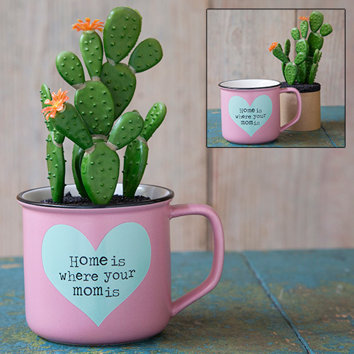 Home is Where Your Mom Is 2in1 Mug Succulent