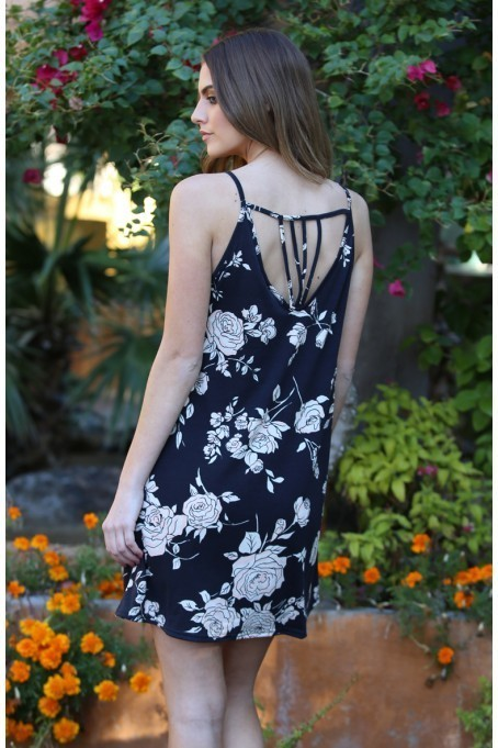 Swing Dress with Strappy Back