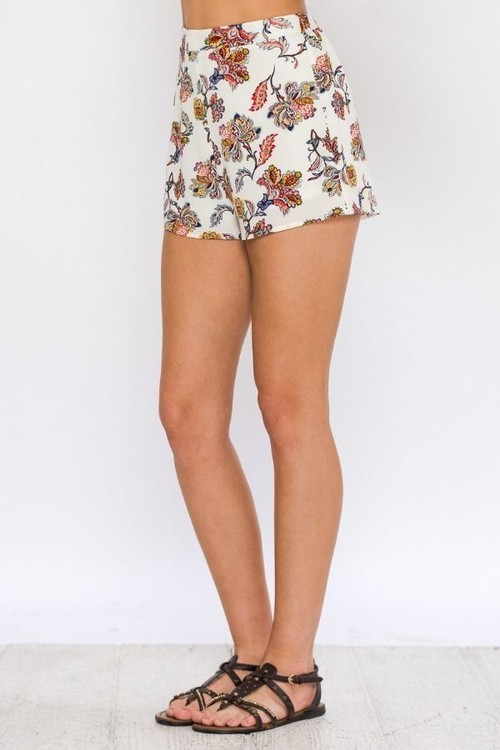Paisley Floral Lounge Shorts