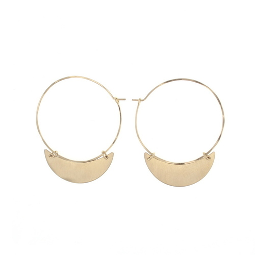 Crescent Finn Earring Gold