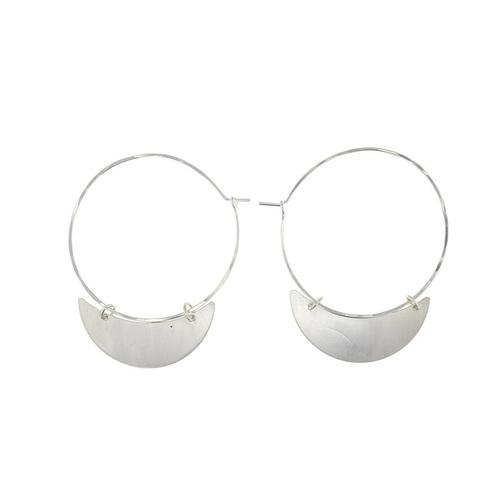 Crescent Finn Earring Silver