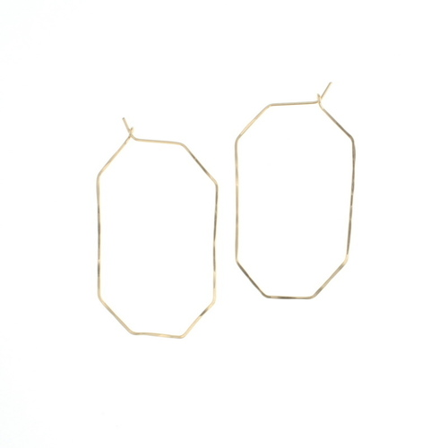 Gem Hoop Earring Gold