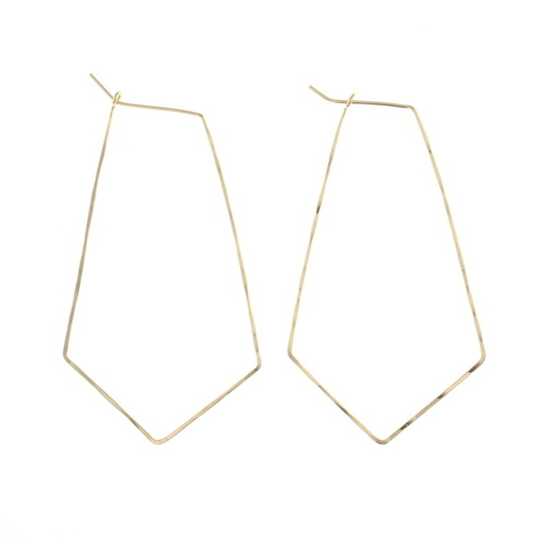 Kite Hoop Earrings Gold