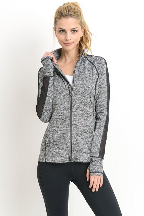 Mesh Sleeve Active Jacket