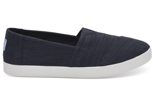 Toms Avalon Navy Slub