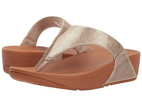 Fit Flop Lulu Toe Thong Gold Shimmer