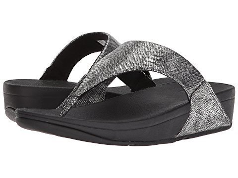 Fit Flop Lulu Toe Thong Black Shimmer