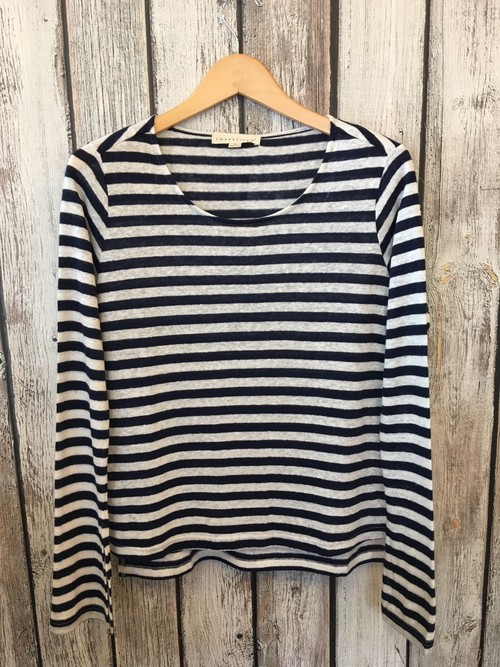 Striped Linen Slub Pullover