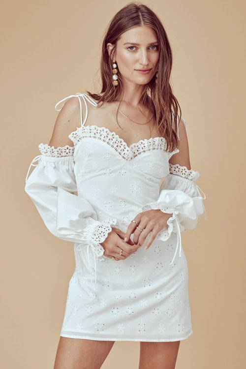 Vera Eyelet Mini Dress