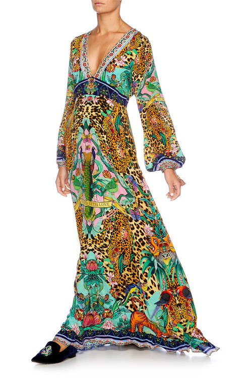 Long Dress w/ Bell Sleeve