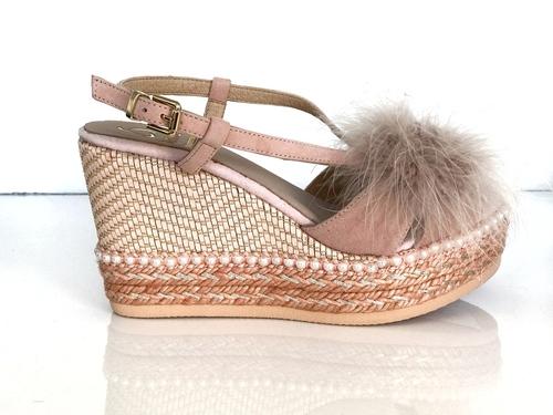 Pink Fur Wedge