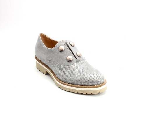 Sparkly Gray Suede / Silver Hardwear Shoes