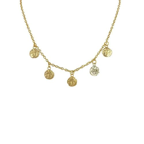 Apollonia Multi Coin Necklace