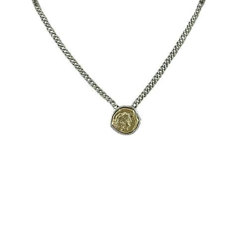 Vintage Silver Repubblica Romana Pendant Necklace