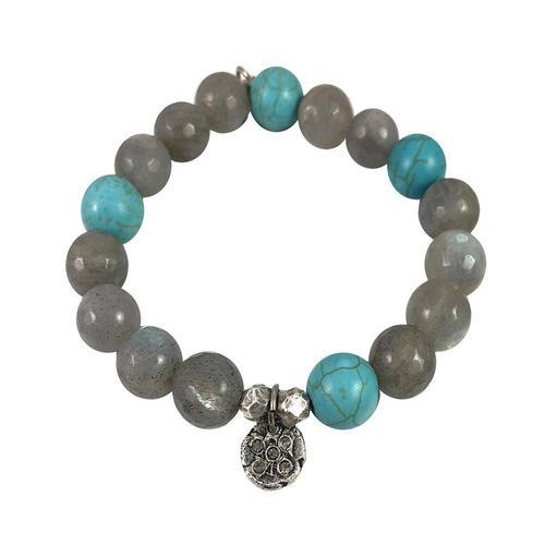 Black Diamond Labradorite & Turquoise Bracelet