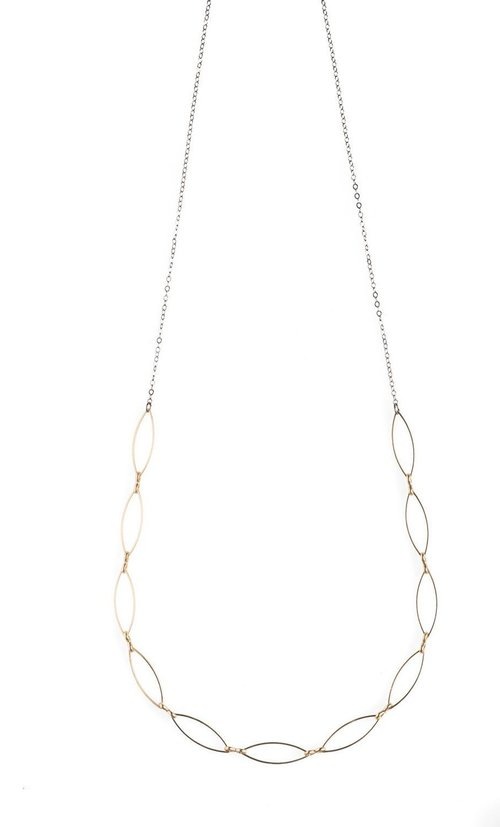 """Gold Marquise 16-18"""" Necklace"""