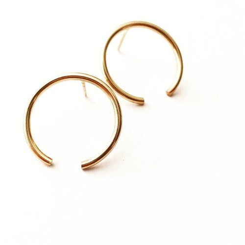 Agapantha Bethany Studs Gold Fill