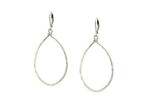 Agapantha Hanna Hammered Hoops Sterling Silver