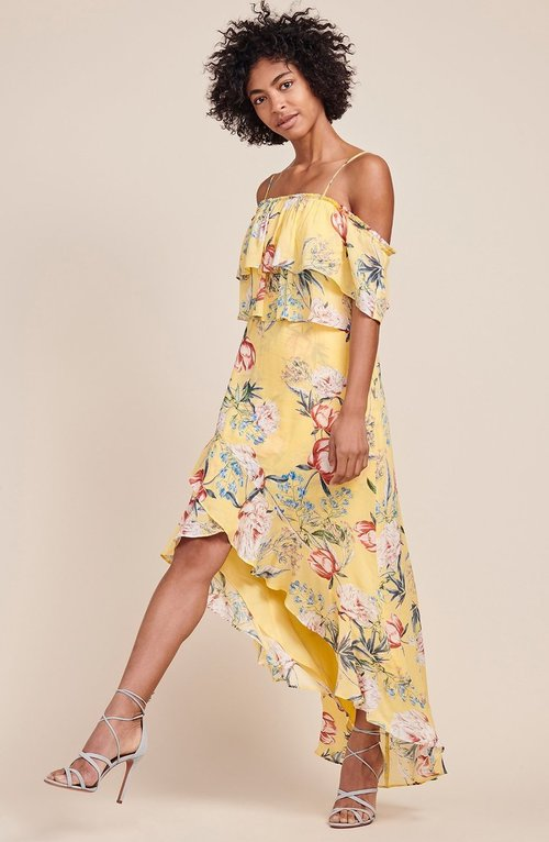 Madison Citrus Floral Ruffle Dress