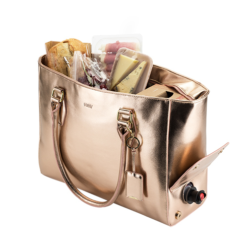 Beach Chic Cooler Bag- Rose Gold