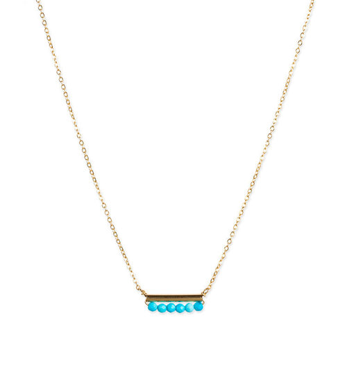 Rory Turquoise Necklace - 14K Gold Filled
