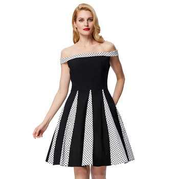 Luna dress in black polka dot
