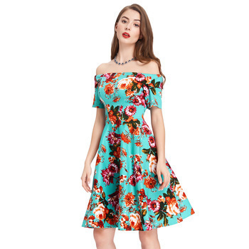 Audrianna Dress in Turquoise floral