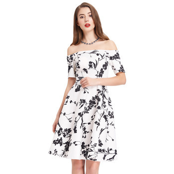 Audrianna Dress white floral