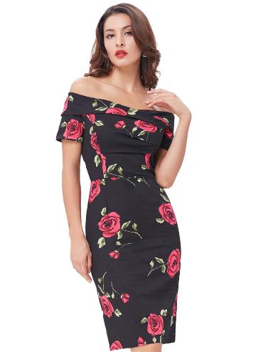 Selma Dress in Desert Rose (red or blue)