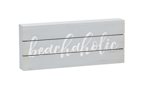 Beachaholic Pallet Box Sign