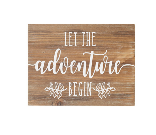 Adventure Begin Vintage sign
