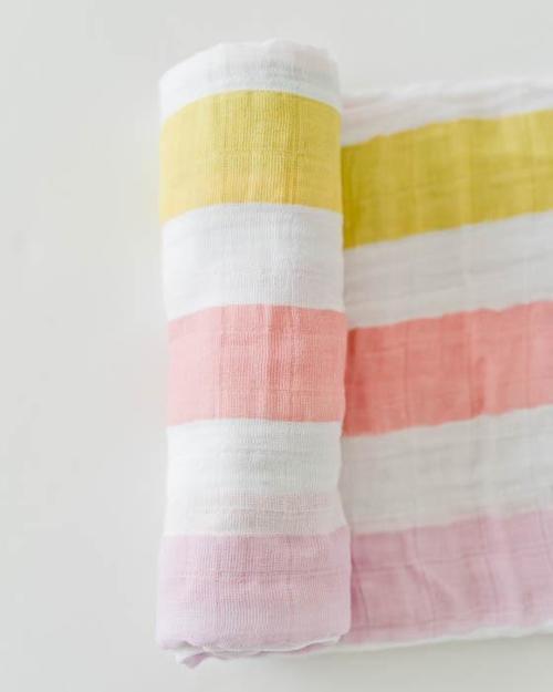 Cabana Stripe Muslin Swaddle Blanket