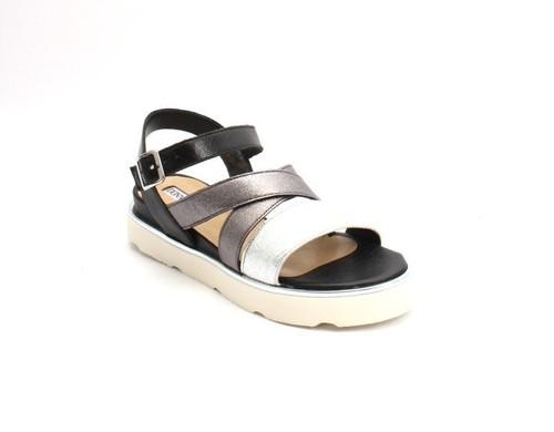 Multi-Color Leather Platform Flats Wedge Sandals