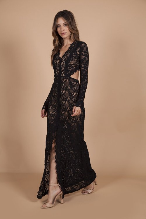 Wisteria Lace Cutout Gown