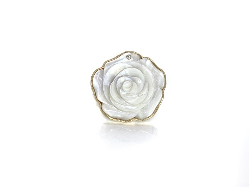 24K Gold Plate Mother of Pearl - Adjustable