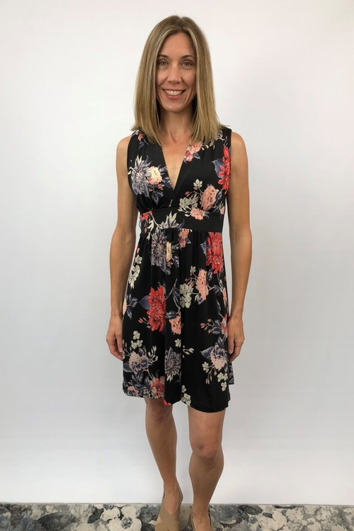Angie Printed Floral Dress